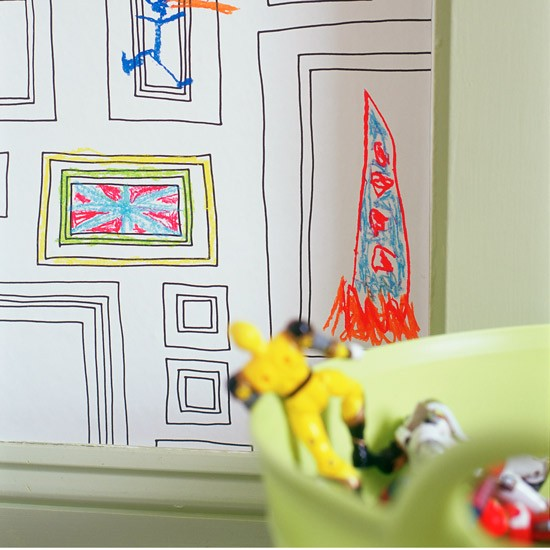 draw-on frame wallpaper