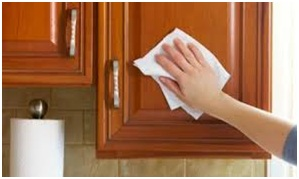 How to clean oil-based painted cupboards