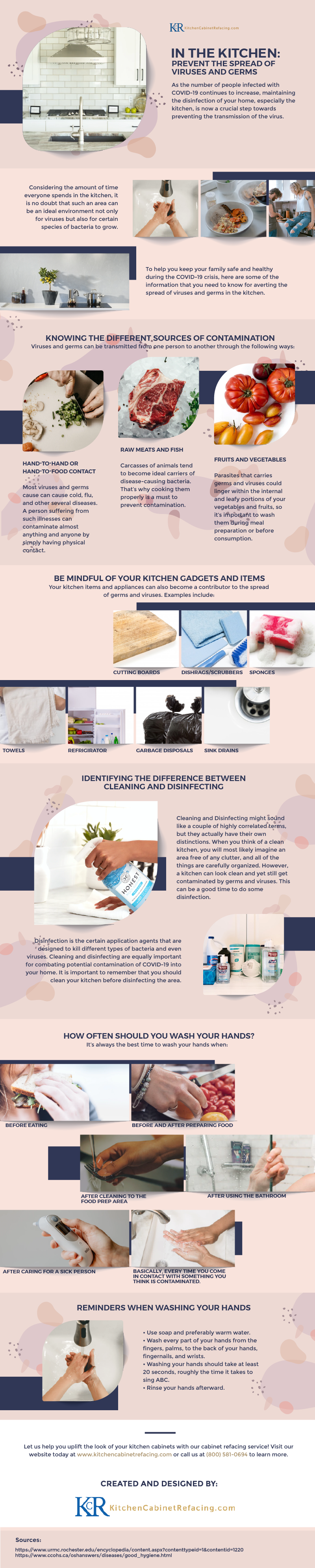 In the Kitchen: Prevent the Spread of Viruses and Germs (Infographic)